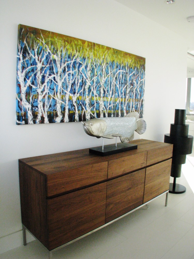 English Bay-apartment-contemporary-modern-dresser-commissioned art-oil painting