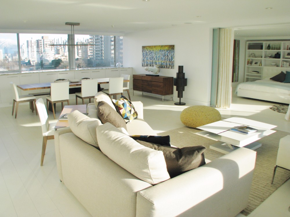 English Bay-apartment-contemporary-modern-white-living room-sentional