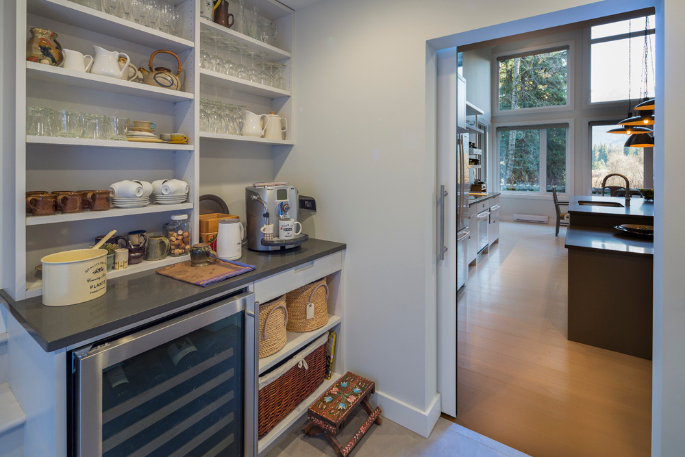 Whistler-Contemporary-modern-well organized pantry-open shelving-laudry (1)