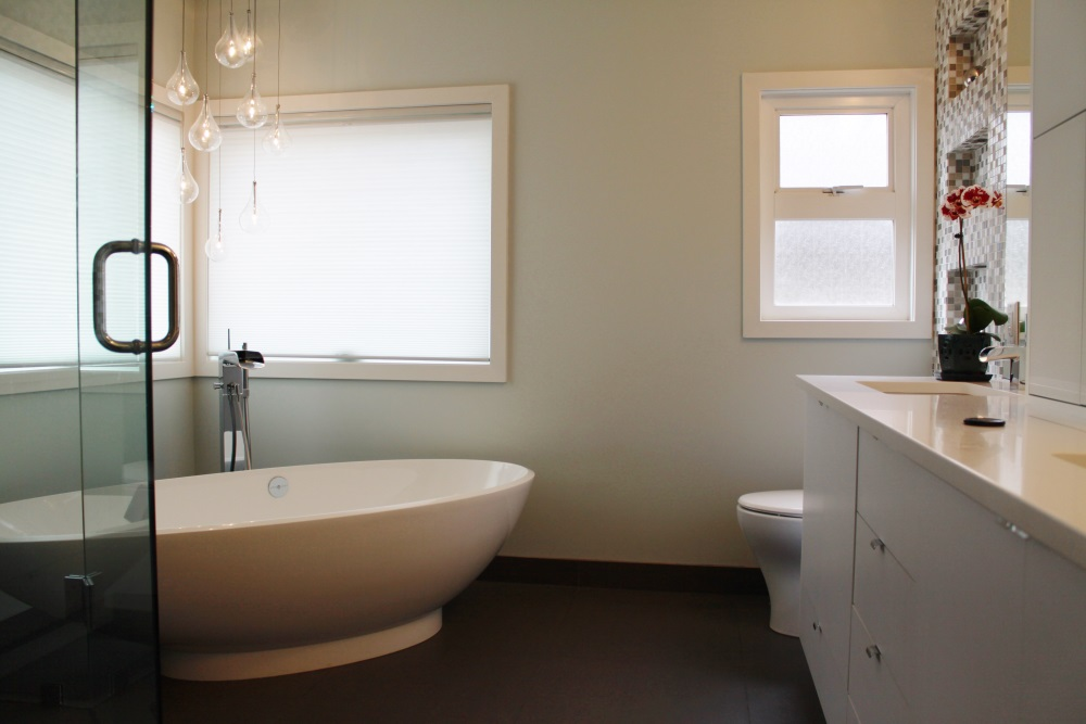 W 22nd Ave- Bathroom-contemporary-modern-white vanity-free standing tub