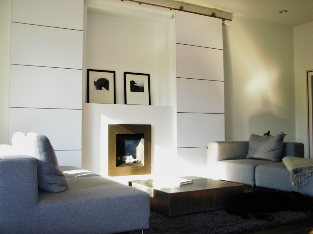 W 22nd Ave- fireplace-contemporary-modern-sliding custom white barn doors-fireplace (1)