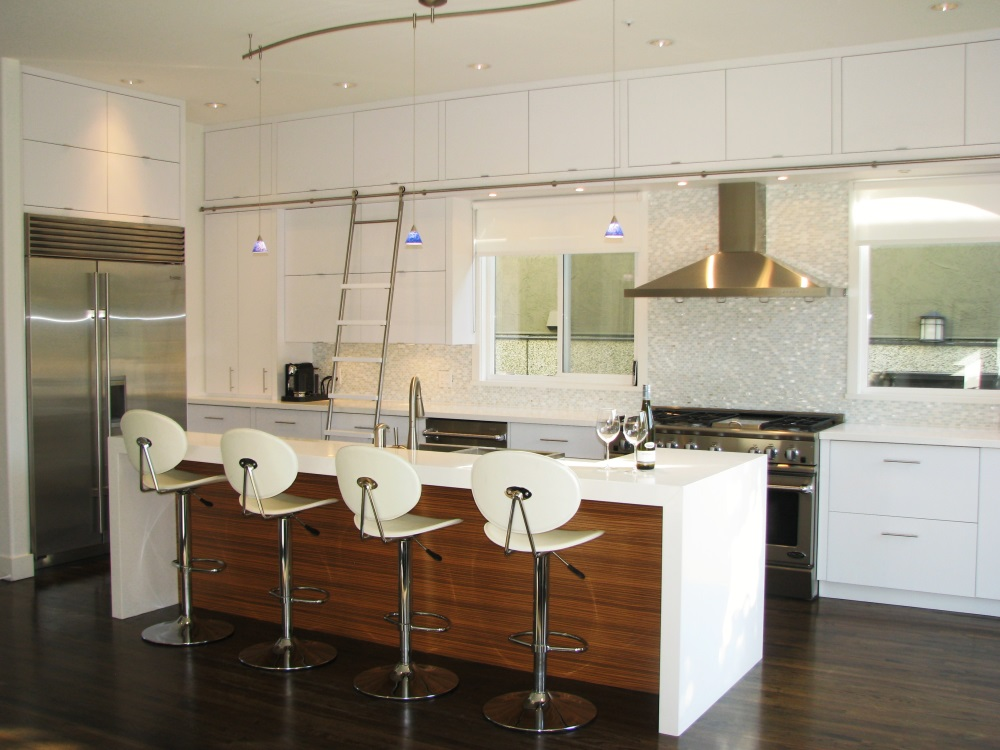W 22nd Ave- kitchen-contemporary-modern-sliding white barn door- fireplace