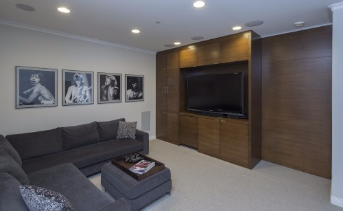 W 42nd ave- contemporary-modern-tv unit sliding door-white oak- secret door closed
