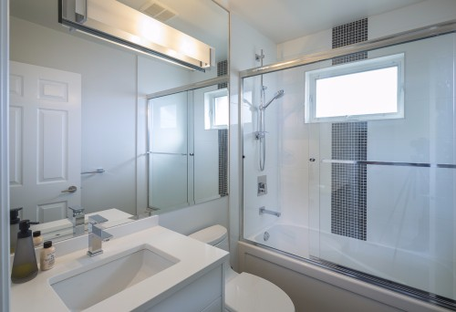 W 42nd ave- contemporary-modern-white bathroom-his