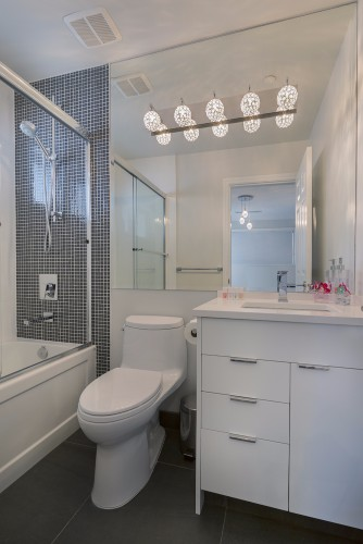 W 42nd ave- contemporary-modern-white bathroom-wall mosiac-hers