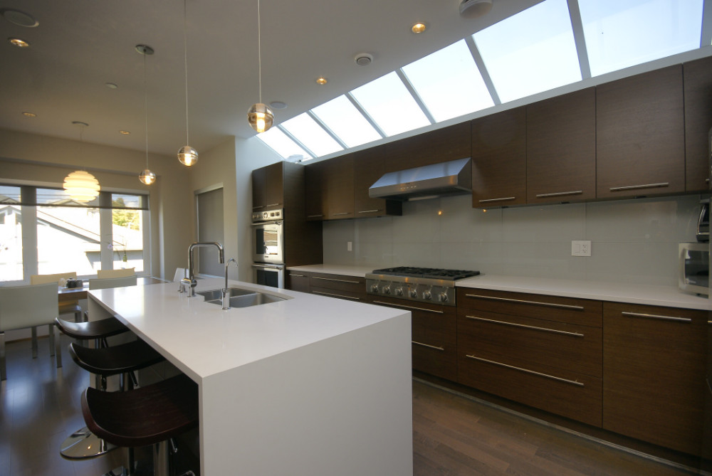 W 49th Ave-contemporary -modern-kitchen flat panel cabinets-skylight (2)