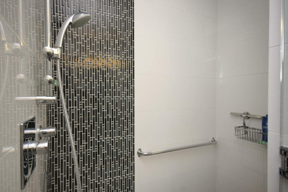 W 49th Ave-contemporary -modern-shower-mosaic tile accent